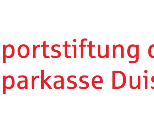 Vielen Dank an die Sportstiftung der Sparkasse Duisburg