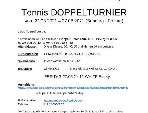 Baumanns Open starten am Sonntag (22.08.2021)